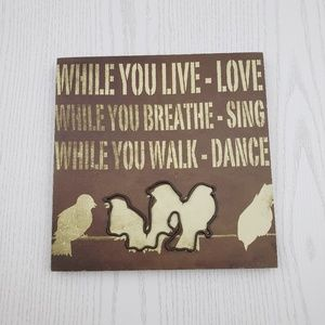 Canvas and Metal Bird Wall Art Brown Inspirational